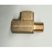 "Pressure Washer Hose 3/8"" Brass 90 degree Swivel Coupler 4000 psi"